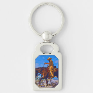 Cowboy angebracht schlüsselanhänger