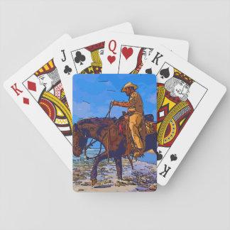 Cowboy angebracht spielkarten