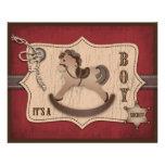 Cowboy-Baby-Ratekarte Personalisierte Flyer