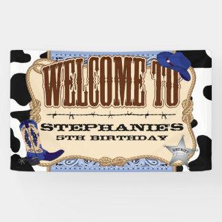 Cowboy, blauer Geburtstag, Willkommen Banner