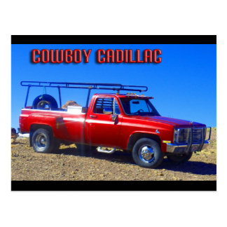 Cowboy Cadillac Postkarte