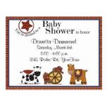 Cowboy-/Cowgirl-Babyparty-Einladung Postkarte