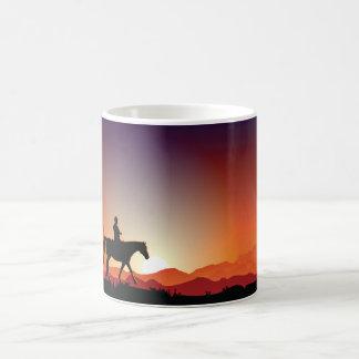 Cowboy, der eine PferdeTasse reitet Kaffeetasse