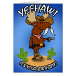 Cowboy-Elch-Geburtstags-Karte