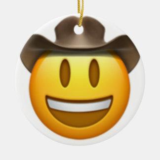 Cowboy emoji Gesicht Keramik Ornament