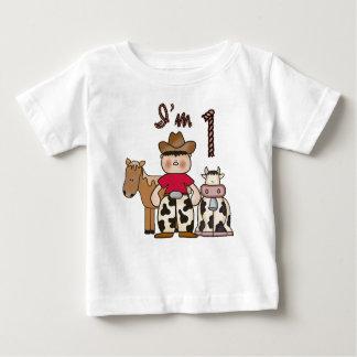 Cowboy-erster Geburtstag Baby T-shirt