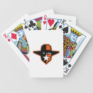 Cowboy-Geächtet-Stern-Ikone Bicycle Spielkarten