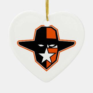 Cowboy-Geächtet-Stern-Ikone Keramik Ornament