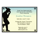 Cowboy-Geburtstags-Einladung