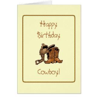 Cowboy-Geburtstags-Karte