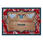 Cowboy-Jeans-und Typen-Windelraffle-Karte Jumbo-Visitenkarten