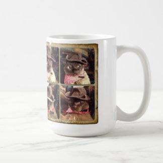 Cowboy-Katze x 4 Kaffeetasse