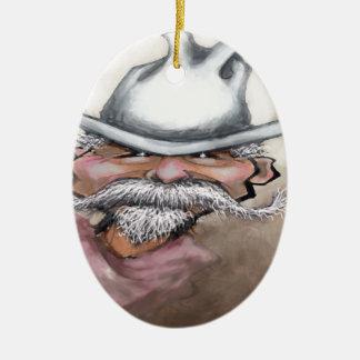 Cowboy Keramik Ornament
