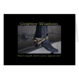 Cowboy-Klugheit I Karte