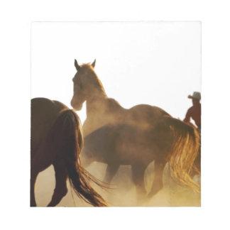 Cowboy Lassopferd Notizblock