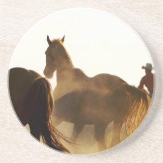 Cowboy Lassopferd Untersetzer