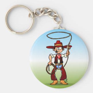 Cowboy mit einem Lasso Schlüsselanhänger