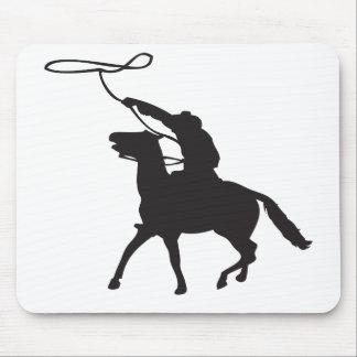 Cowboy mit Lasso Mauspads