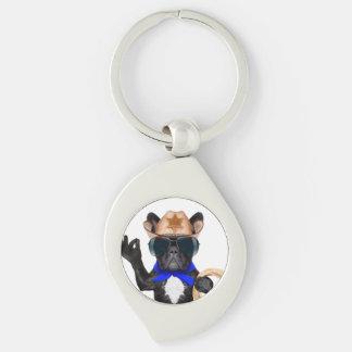Cowboy-Mops - Hundecowboy Schlüsselanhänger