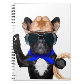 Cowboy-Mops - Hundecowboy Spiral Notizblock