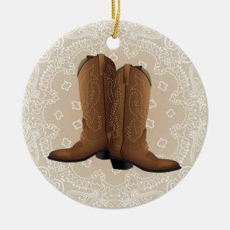 Cowboy OBEN! Keramik Ornament