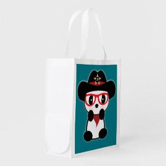 Cowboy-Panda-Bärn-Tasche kaufenc$tasche-leon Wiederverwendbare Einkaufstasche