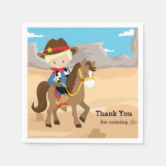 Cowboy Papierservietten