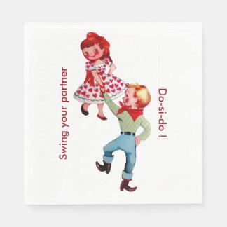 Cowboy-quadratischer Tanz-Party Papierserviette