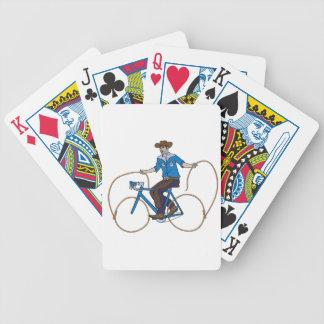 Cowboy-Reitfahrrad mit Lasso-Rädern Bicycle Spielkarten
