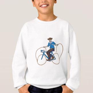 Cowboy-Reitfahrrad mit Lasso-Rädern Sweatshirt
