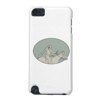 Cowboy-Reitpferdelasso-ovales Zeichnen iPod Touch 5G Hülle