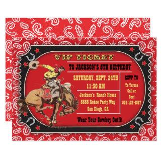 Cowboy-Rodeo-Western-Geburtstags-Party Karte