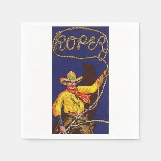 Cowboy-Roperpapierservietten Papierserviette