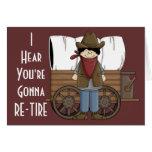Cowboy-Ruhestands-Wünsche - Western-Spaß Karte