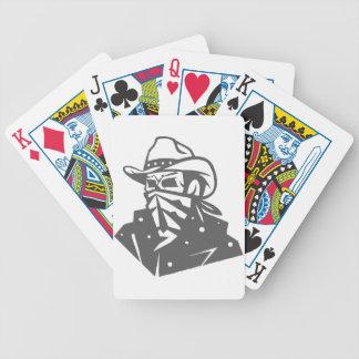 Cowboy-Schädel mit Bandana und Hut Bicycle Spielkarten