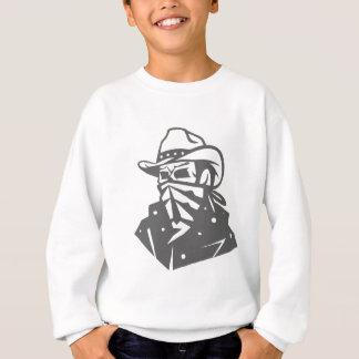 Cowboy-Schädel mit Bandana und Hut Sweatshirt