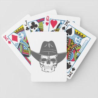 Cowboy-Schädel mit Hut Bicycle Spielkarten