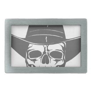 Cowboy-Schädel mit Hut Rechteckige Gürtelschnalle