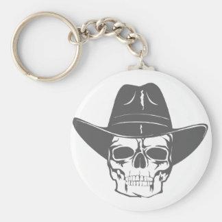 Cowboy-Schädel mit Hut Schlüsselanhänger