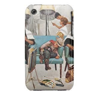 Cowboy schlafend im Schönheits-Salon iPhone 3 Cover