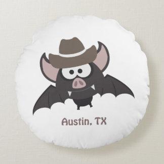 Cowboy-Schläger Austins Texas Rundes Kissen