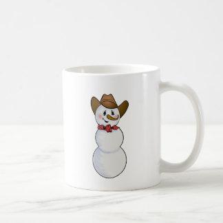 Cowboy-Schneemann mit rotem Bandana Kaffeetasse