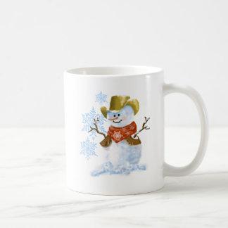 Cowboy-Schneemann-Weihnachtskaffeetasse Kaffeetasse
