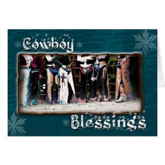 Cowboy-Segen-Weihnachtsgruß-Karte Karte