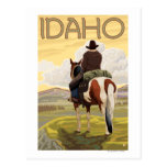 Cowboy-u. HorseIdahoVintage Reise-Plakat Postkarten