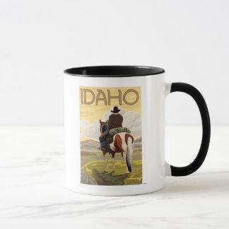 Cowboy-u. HorseIdahoVintage Reise-Plakat Tasse