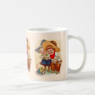 Cowboy-und Cowgirl-Kinder Kaffeetasse