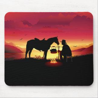 Cowboy und Pferd an der Mousepad