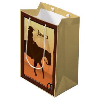 Cowboy und Pferd entwerfen zu Pferde MGB Mittlere Geschenktüte