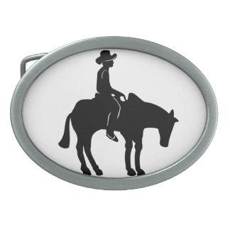 Cowboy-und Pferdegürtelschnalle Ovale Gürtelschnalle